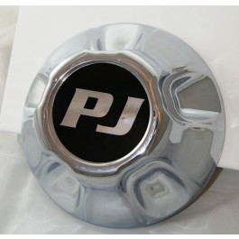 "Chrome 5 on 5"" Hub Cover w/ PJ Logo"