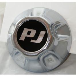 "Chrome 5 on 5"" Hub Cover w/ PJ Logo"