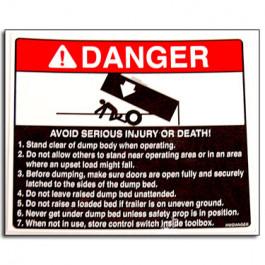 Decal Danger Avoid Injury (Dumps)