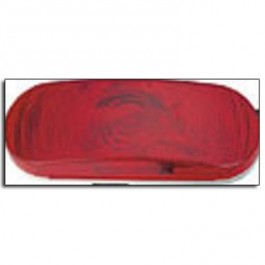 "Tail Light, 6"" Oval, Red Sealed"