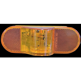 "Mid-mount LED 6"" Oval Amber lamp"