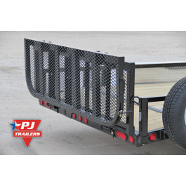 "Gate Bi-Fold 83"" Regular Sides Black"