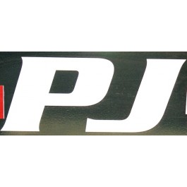 "Decal  ""PJ"" Letters Large White"