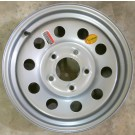 "Wheel 15""x5"" Silver Modular 5 on 5"""