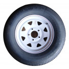 "Tire Wheel 205/75 R15 on 5 on 5"" White Spoke Goodride"