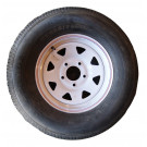 "Tire Wheel 225/15 5 on 5"" White Spoke Goodride"