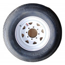 "Tire Wheel 235/80R16 8 hole 6.5"" White Spoke Goodride"