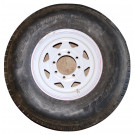 "Tire&Wheel 235/85R16 on 8 on 6.5"" White Spoke Goodride"