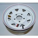 "Wheel 15"" White Spoke 5 on 5"""