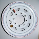 "Wheel 16"" White Spoke 8 on 6.5"""