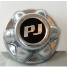 Chrome 6 Lug Hub Cover w/ PJ Logo
