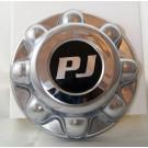 Chrome 8 Lug Hub Cover w/PJ Logo