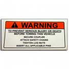 Decal Warning To Prevent Injury