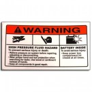 Decal Warning High Pressure Hazard