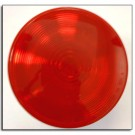 "Tail Light, 4"" Round, Red Sealed"