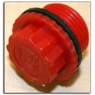 "Plug, plastic 3/4"" with gasket - KTI"